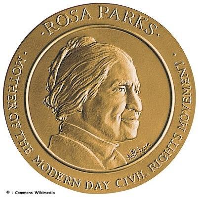 1999 Rosa Parks Bronze Medal Obverse